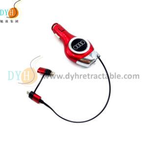 USBを持つ小型引き込み式車の充電器