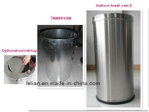 Latta dei rifiuti dell'acciaio inossidabile della cucina, scomparto di rifiuti per mobilia pubblica (LL-RBC001)