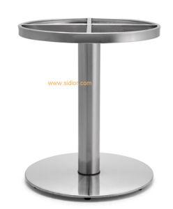 (SC-738)家具のステンレス鋼の金属表ベースを食事する現代レストラン