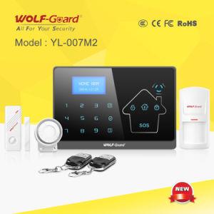 英語およびフランス語のVersion (YL-007M2)の無線GSM+PSTN Alarm