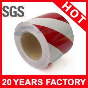 Лента предосторежения красного и белого пола слипчивая (YST-FT-006)