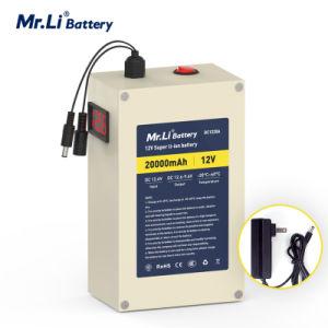 Г-н Ли портативный пластину 12V 20AH Литий батарей размера 18650 и АС 12,6 дюйма V 2A питания зарядного устройства с 4 типа свечей предпускового подогрева