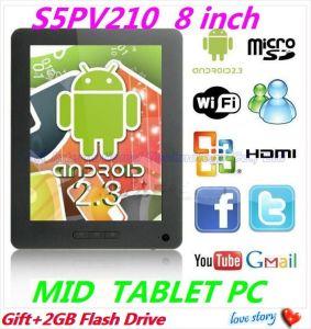 Androïde PC het Wapen cortextm-A8 1.2GHz 512MB/4GB van de Tablet van 2.3 Peperkoek van Samsung S5PV210 van 8 Duim