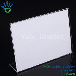Freie Menü-Bildschirmanzeige-Acrylzeichen-Halter des Plexiglas-Plastikschreibtisch-A4