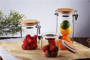 Bleifreies Qualitäts-Nahrungsmittelbehälter-Speicher-Maurer-Glas-Glas