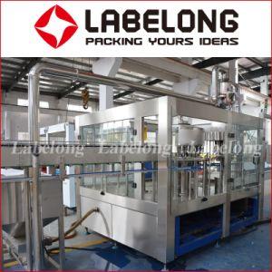생산 라인 기계를 병에 넣는 가득 차있는 완전한 청량 음료
