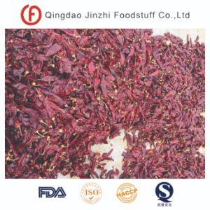 Gewaschenen roten süssen Paprika trocknen