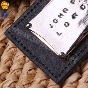 Contrassegno su ordinazione del cuoio del metallo di marca di alta qualità di Sinicline per l'indumento