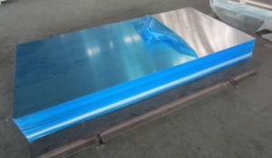 Feuille de la plaine d'aluminium avec un côté film PVC de protection