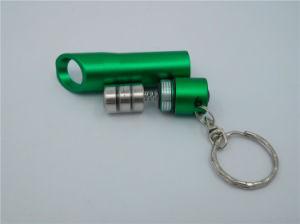 アルミニウム3LED栓抜きのKeychainの懐中電燈のキーホルダー