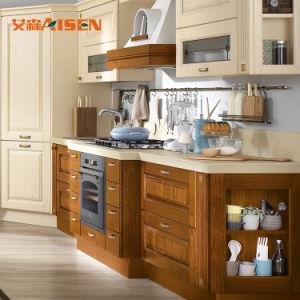 Estilo Rural francesa vintage combinações de cores de madeira maciça de cozinha armário de cozinha