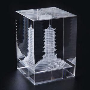 mod le architectural laser 3d des souvenirs de verre en cristal cube d coration de bureau. Black Bedroom Furniture Sets. Home Design Ideas