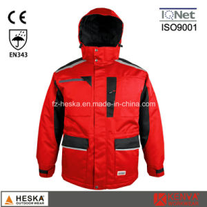 Homens Cothing Segurança Parka casaco de inverno com costura de fita