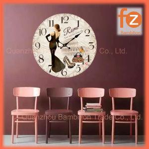 (0.5Cm caliente el cuerpo), la venta de varios estilos innovadores comercio al por mayor Reloj de pared Pared Vintage Antiguo reloj redondo de madera para la decoración del hogar016007-31 Fz.
