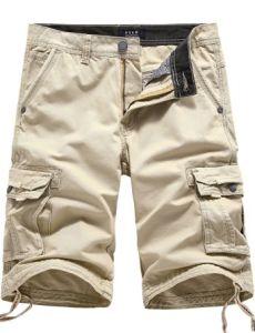 Shorts casuali del carico della Multi-Casella del cotone degli uomini