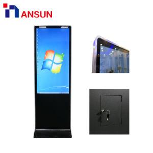 Téléphone mobile Support au sol de style rétro-éclairage LED écran tactile de la publicité numérique