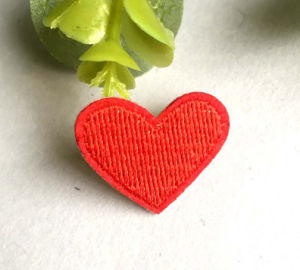 Coração multicolorido infantis Bordados Patch