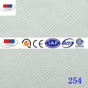 Conseil de plafond en plâtre laminé PVC avec feuille d'aluminium254