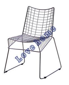 現代的なダイニングレストランStackable Strings Steel Wire Chair
