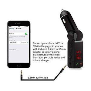 Kit de coche reproductor de música MP3 Wireless Bluetooth el transmisor de FM Radio con puerto USB de 2
