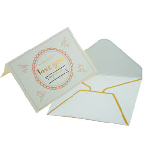 호화스러운 금 각인은 선물 서류상 카드 봉투 감사한다