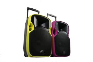 Shinco multimedia inalámbrico recargable Bluetooth Altavoz exterior con proyector