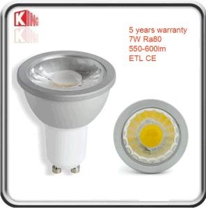 LED GU10 7W Ra80
