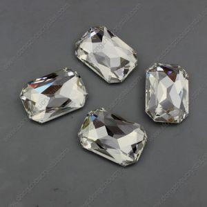 Elementen 25X18mm van Sw van de Kleding van het huwelijk de Steen van het Kristal van de Achthoek