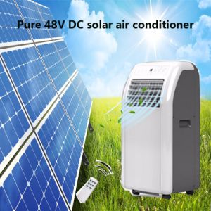 Solar Portátil 12V 24V DC pequeno tamanho 48VDC do Condicionador de Ar