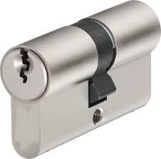 En1303 de la cerradura de puerta Euro cilindro de cerradura de doble bloqueo seguro de níquel satinado