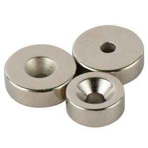 De sterke Ronde Magneten van het Neodymium met Countersink Gat