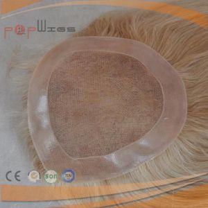 絹の上のToupeeのタイプユダヤ人の毛の上層(PPG-l-0446)