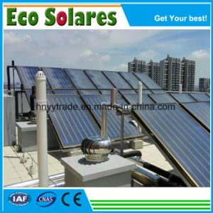 Hot Water Supplying Project를 위한 까만 Chrome Coating Flat Plate Solar Collector 또는 Solar Water Heater