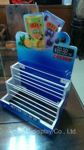 형식 최신 판매 소매점 금속 와이어 사탕 간식 탁상용 진열대