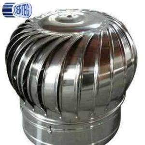 Carenagem de aço inoxidável chaminé ventilador de teto da turbina