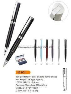 De Ballpoint van het Metaal van de draai met de Pen van de Rol of de Reeks van de Pen