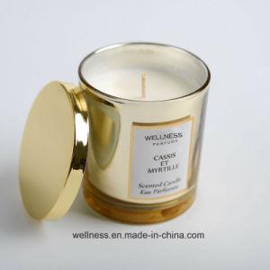 Deitar a mão a soja Vela Perfumada de luxo com jarro de vidro de embalagem de Nice para Dom