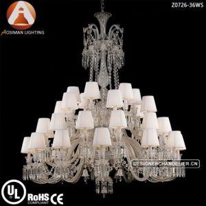 Baccarat de lujo estilo araña de cristal para el proyecto de decoración interior del hotel