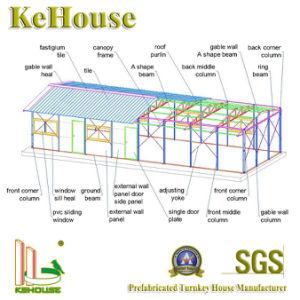 アフリカの騒音の絶縁体の泡ライト鉄骨構造のモジュラープレハブの家