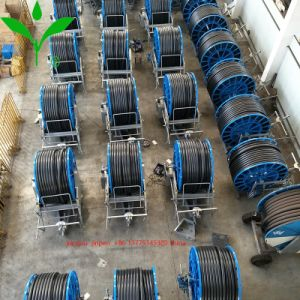 Het Systeem van de Irrigatie van de Spoel van de slang met het Kanon van het Eind, Bundel en LandbouwSproeiers en de Spil van het Substituut