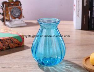 Vase en verre de couleur pour la décoration d'accueil
