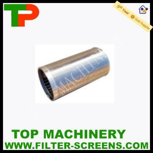Água para dentro do filtro de tambor para tratamento de efluentes de esgotos