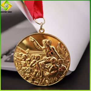 Karnevals-Ehrenmarathon-Fußball-weicher Decklack Druckguss-Sport-Medaillen