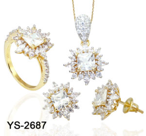 De hoge Reeks van de Juwelen van de Steen van de Manier van het Eind Imitatie 925 Echte Zilveren Grote
