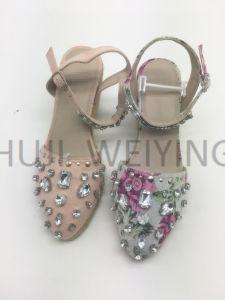 Fashion Mesdames sandale avec talon de jute de filtre en coin
