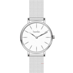 高品質の腕時計の小さい腕時計のステンレス鋼の網の腕時計の最小主義の女性の腕時計