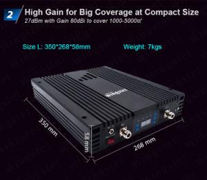 Alto ripetitore intelligente del segnale del telefono delle cellule dell'amplificatore di potere del ripetitore rf di GSM 3G 4G di guadagno