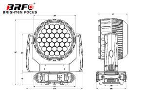 ズームレンズが付いている高い発電37*15Wの洗浄移動ヘッド