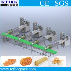 Automatisches Tellersegment-Laden-Verpackungsfließband