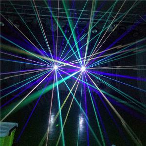 Etapa 8 W de luz láser de animación de RGB discoteca